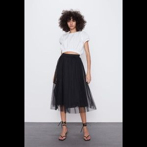 Zara Fine pleated tune skirt